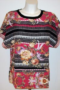 Betsy Pink Multi bluse.