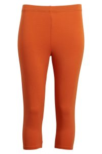 Orange bambus knælange leggins.