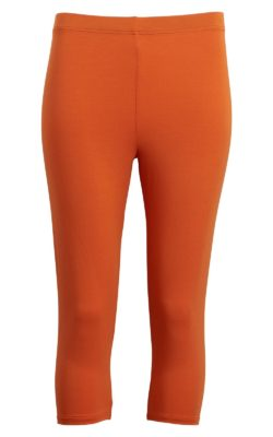 CHARLES bambusleggins i orange 3/4 lange
